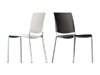 Alexa Stackable Chair by Rexite » Black Seat and Back (Black Frame and Arms)