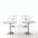 Zanziplano High Square Table by Rexite » White Top (White Cone)