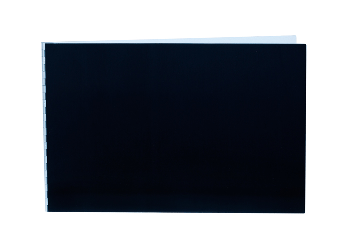 Handmade Double Thick Screwpost Portfolio Cover by Shrapnel Design » 11x17 Landscape » Black Anodized Aluminum