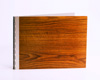 Handmade Wood Look Screwpost Portfolio Cover by Shrapnel Design » 8.5x11 Landscape » Teak