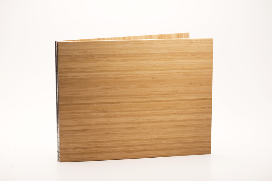 Handmade Wood Screwpost Portfolio Cover by Shrapnel Design � 11x14 Landscape � Solid Bamboo
