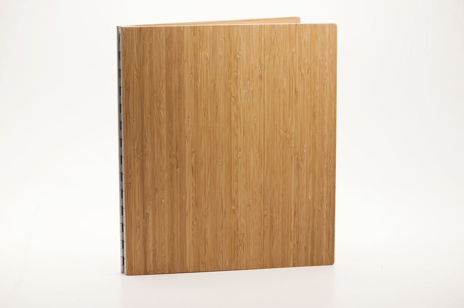 Handmade Wood Screwpost Portfolio Cover by Shrapnel Design � 11x14 Portrait � Solid Bamboo