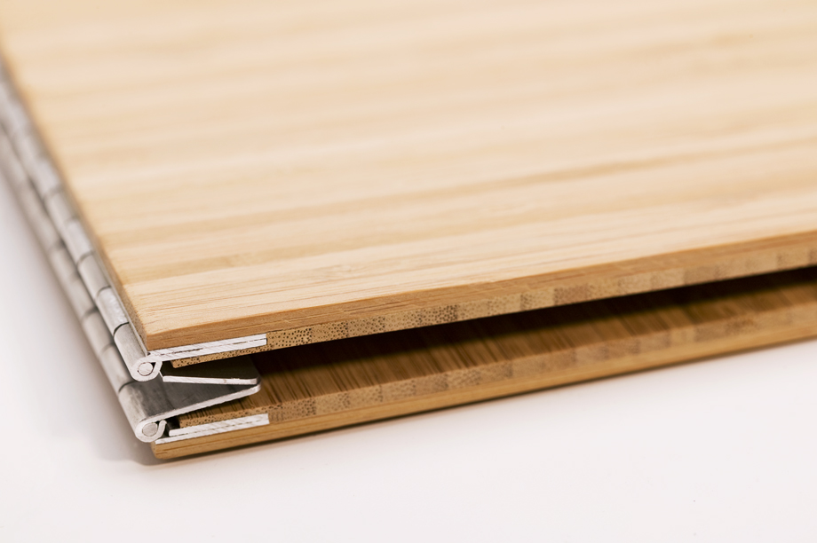 Handmade Wood Screwpost Portfolio Cover by Shrapnel Design » 11x17 Landscape » Solid Bamboo