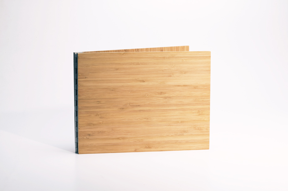 Handmade Wood Screwpost Portfolio Cover by Shrapnel Design » 8.5x11 Landscape » Solid Bamboo