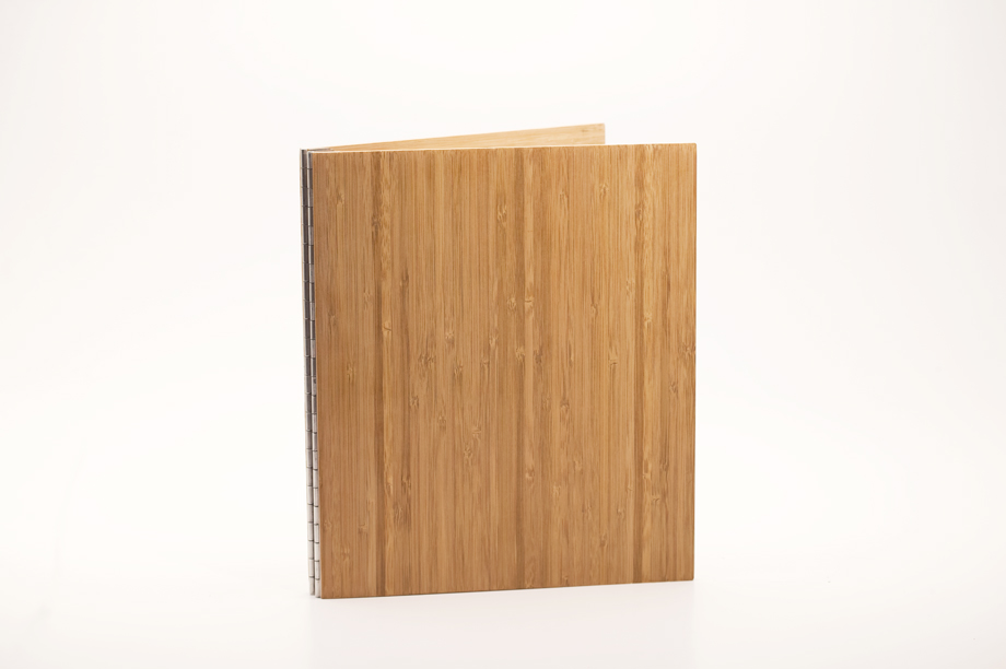 Handmade Wood Screwpost Portfolio Cover by Shrapnel Design � 8.5x11 Portrait � Solid Bamboo